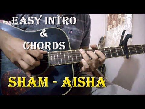 Sham - Aisha   Easy Guitar Chords & Intro Lesson   Amit Trivedi