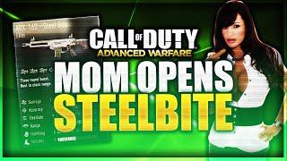 "MOM OPENS ""STEEL BITE"" *LIVE* ""Supply Drop Opening"" (Call of Duty Advanced Warfare ELITE GUNS)"