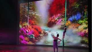 Projection and Animation for theatres and concert halls. Digital theatrical backgrounds
