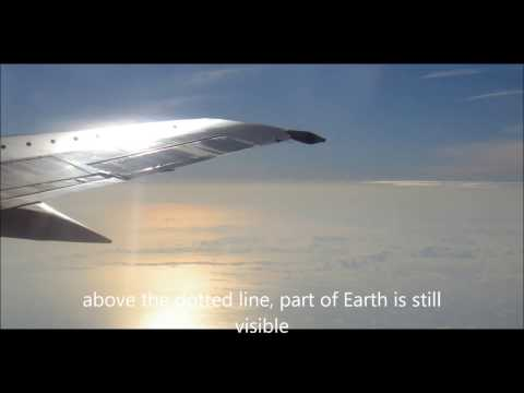 earth from airplane: curvature on a charter-flight