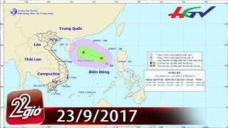 Áp thấp nhiệt đới gây mưa giông, gió mạnh trên biển Đông   CHUYỆN 22 GIỜ - 24/9/2017