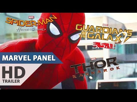 Marvel Panel Comic-Con 2016 Trailer, Clips (Spider-Man Homecoming, Guardians of the Galaxy 2)