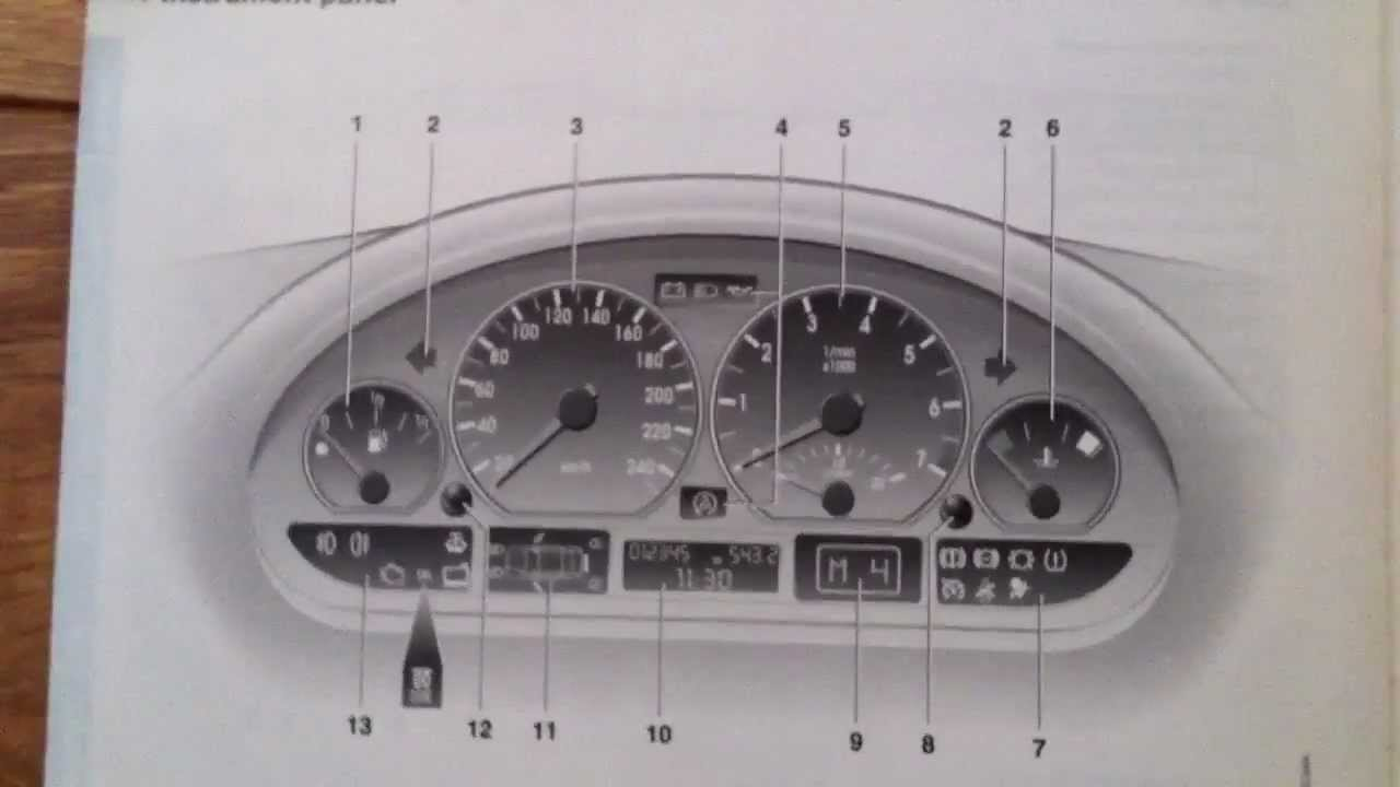 Bmw E46 Dashboard Warning Lights Youtube