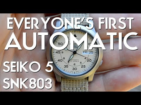Seiko 5 SNK803 Watch (SNK809 Cream Dial) Review - Ep. 5 - The Automatic