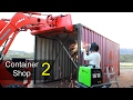 Shipping Container Shop Part 2 - Doors, Foundation Blocks