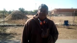 homeless woman sings