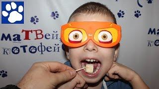 Фруктовый челлендж | Fruit challenge | Матвей угадывает фрукты с закрытыми глазами