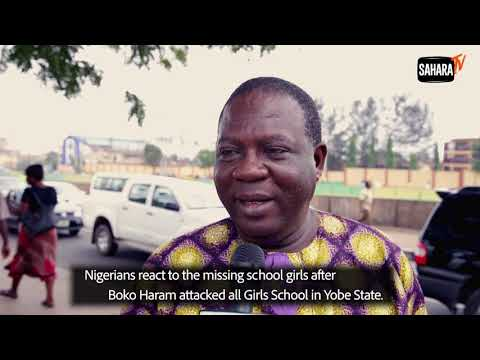 Nigerians Reacts To Missing Girls After Boko Haram Attacks in Yobe State
