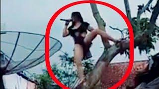 viral  Ampun Artis Dangdut goyang sampe naik pohon