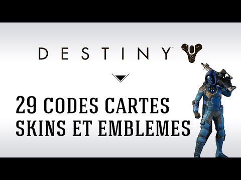 [FR] Destiny 29 Codes Gratuits : Skins, Emblèmes et Cartes de Grimoire