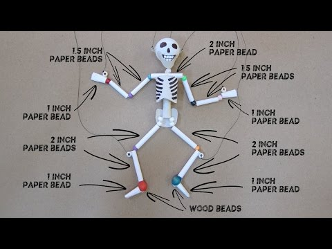 Paper & Plastic Bead Skeleton Marionette Part 1
