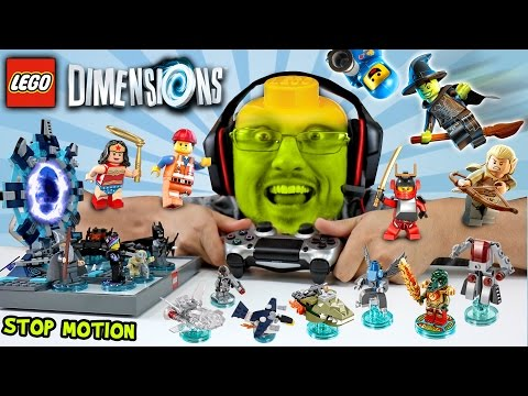LEGO Dimensions Fun Packs Stop Motion Build & In-Game Fun! (Let's Build Wave 1 Skit)