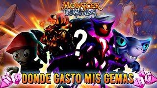 DONDE GASTÉ MIS GEMAS?? TOP MEJORES MONSTRUOS - Monster Legends