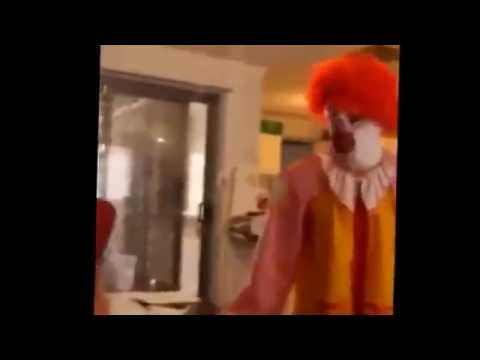 Ronald McDonald is flipping out