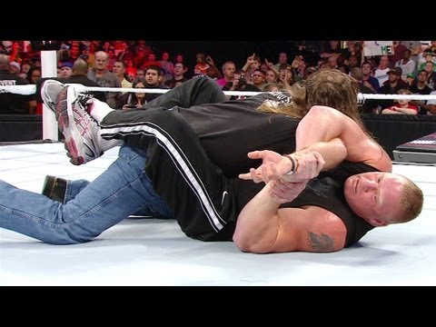 Brock Lesnar attacks Shawn Michaels: Raw, August 13, 2012