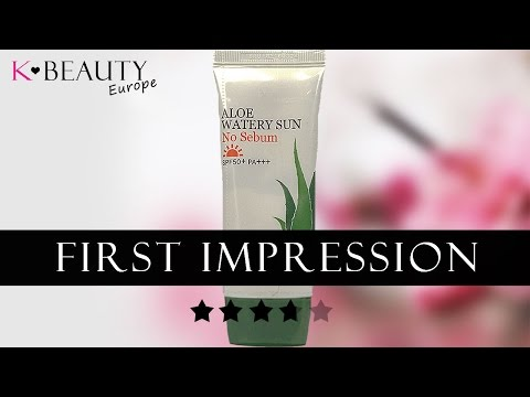 [REVIEW] Skinfood Aloe Watery Sun Daily Cream First Impression | K-beauty Europe