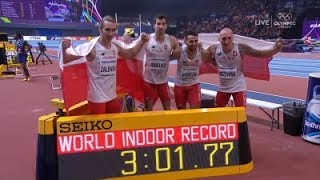 POLAND Men 4x400 Metres Relay FINAL  WORLD RECORD!! Indoor World Championships 2018