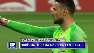 Durísima derrota de Argentina en Rusia