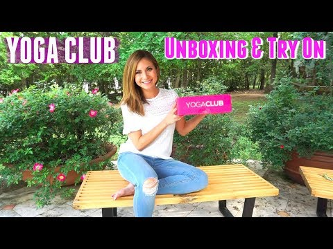 YogaClub Unboxing and Try On | Fitness Subscription Box