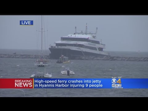 Rescue Crews Work Through The Night After Ferry Hits Jetty In Hyannis