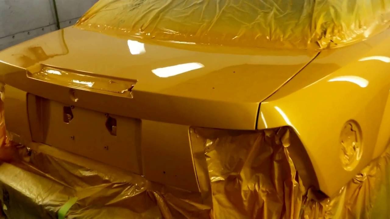 Tangerine Paint Color First Mustang In The World With Tangerine Scream Paint Youtube