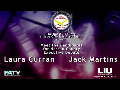 Nassau County Executive Debate - Laura Curran/Jack Martins