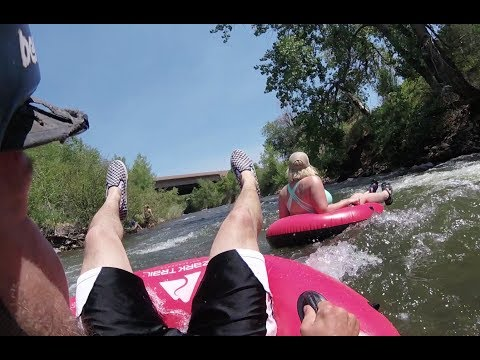 Tubing clear creek in Golden Colorado is a Super Fun Thing to do this Summer.