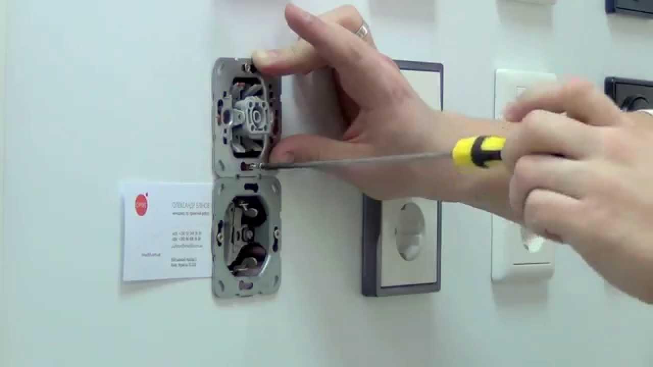 Монтаж электровыключателей своими руками