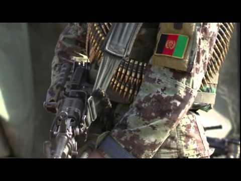 Afghan National Army Soldiers Operate Patrol Base
