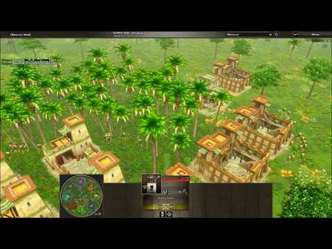 0 A.D. Alpha 22 Replays: Game 2 Part 1 Siege Tower Rush