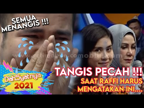 Raffi nangis saat mengucapkan do'a ulang tahun untuk Syahnaz [Dahsyat] [30 Okt 2015]