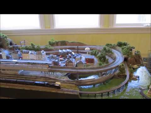 N scale model train layout