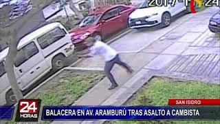 Balacera en San Isidro: Policía detiene a delincuentes tras asalto a cambista (1/2)