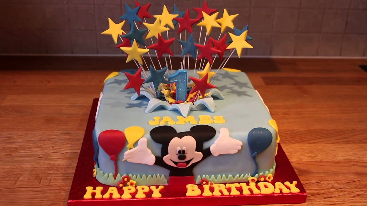Mickey Mouse 1st Birthday Cake Youtube