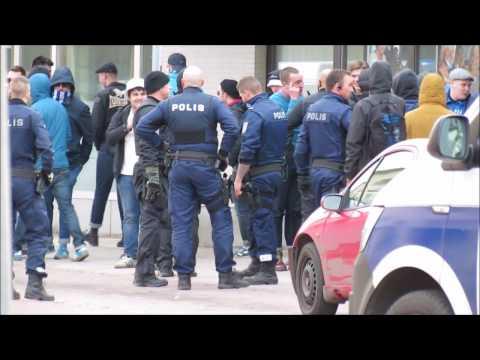 HJK Suporters Riot In Mariehamn 15.04.2017 Åland