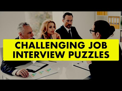 Challenging Job Interview Puzzles || Puzzles Collection