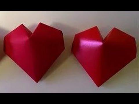 Cмотреть видео онлайн Что подарить? Как сделать сердце из бумаги. Объемная Валентинка Оригами Игрушки Поделки с детьми