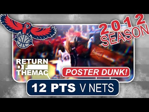 Tracy McGrady Hawks Debut 12 Pts v Nets | Poster Dunk on Kris Humphries! (12.27.2011)
