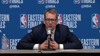 Nick Nurse Postgame Interview - Game 2 | Raptors vs Bucks | 2019 NBA Playoffs