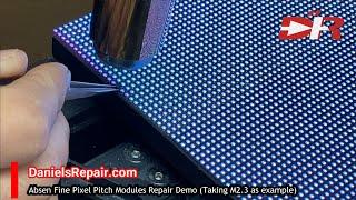 How to repair Absen module, M2.3 repair bad pixel repair for M2.3