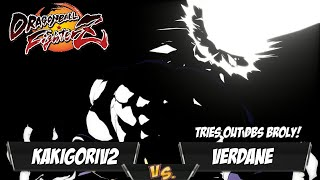 Verdane tries out Broly(DBS) Against KakigoriV2![DBFZ PS4]