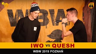 Iwo  Quesh  WBW 2019 Poznań (1/8) Freestyle Battle
