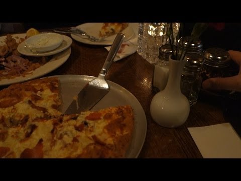 Martini's Restaurant in Vancouver (West Broadway) - Calamari and Pizza dinner - Dec 2013