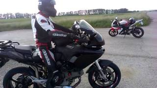 ducati Multistrada 1000 DS view, start up, sound