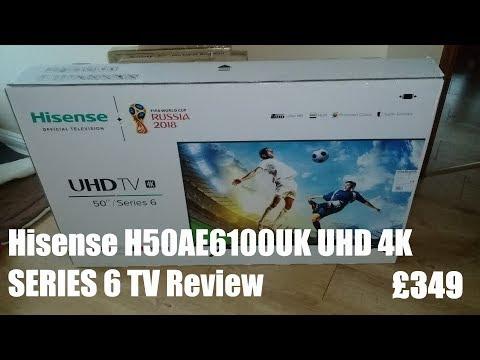 Hisense H50AE6100UK UHD 4K 50 Inch Series 6 TV Review