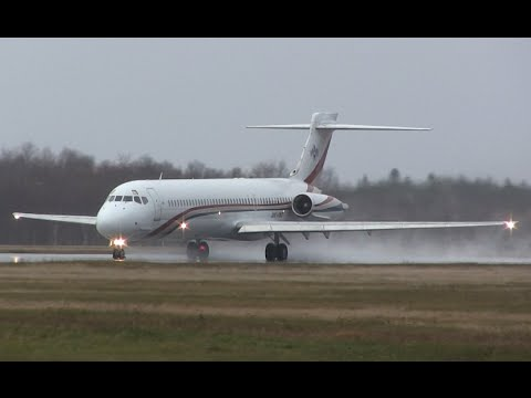 King of Swaziland Airplane - Wet Takeoff