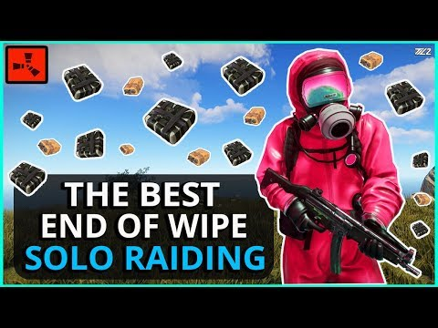 The BEST Last Day of Wipe RAIDING I've EVER HAD!! Rust Solo Survival Gameplay Ep5 (Finale)
