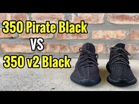 yeezy-350-pirate-black-vs-yeezy-350-v2-black