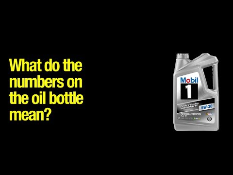 What do motor oil numbers mean?