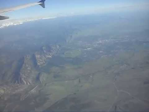 Boulder Flatirons as seen from an aircraft a few thousand metres up...